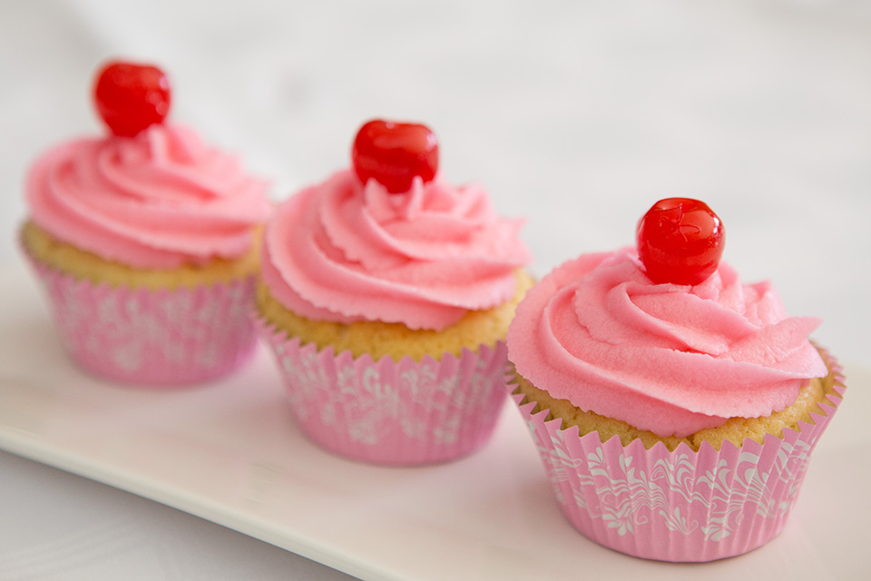 Cherry Limeade Cupcakes made by Shelley burt for All Things Pretty