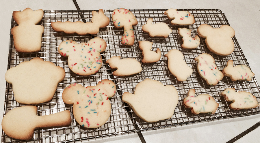Baked sugar cookies with sprinkles