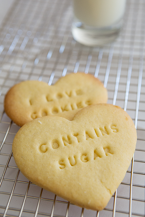 sugar cookies made with the Cookie Message Set