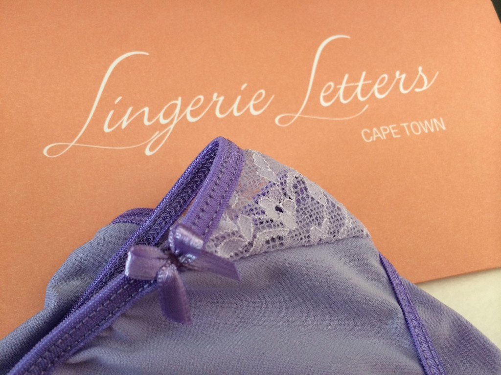 Lingerie Letter's - September 2014 panties