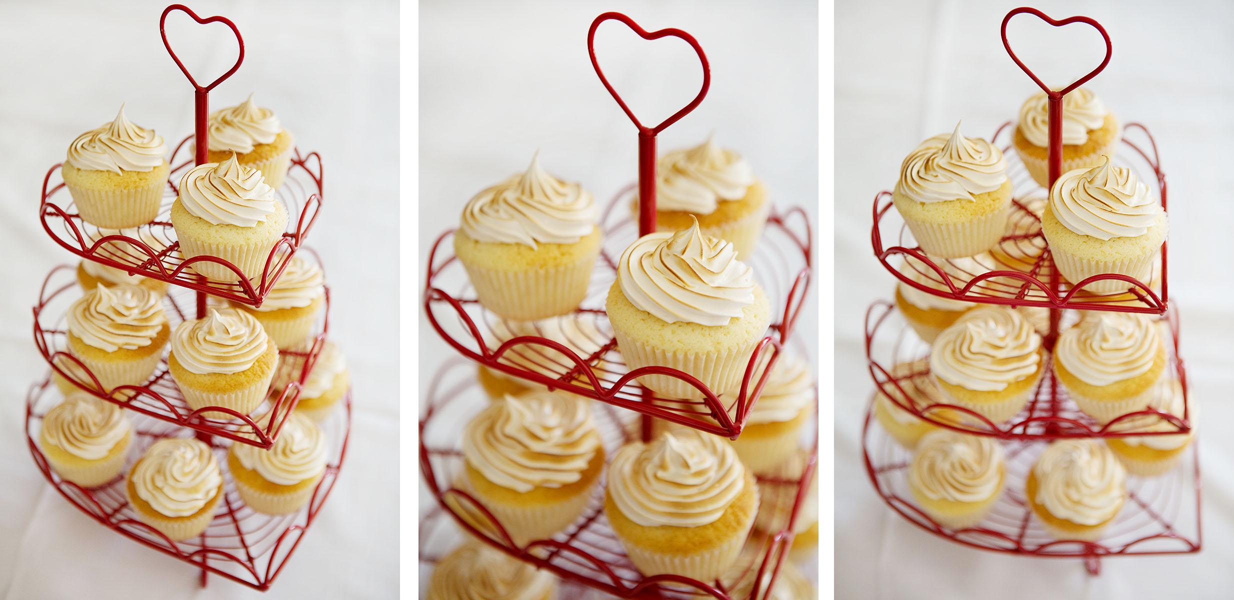 Lemon meringue hidden centre cupcakes...yum!