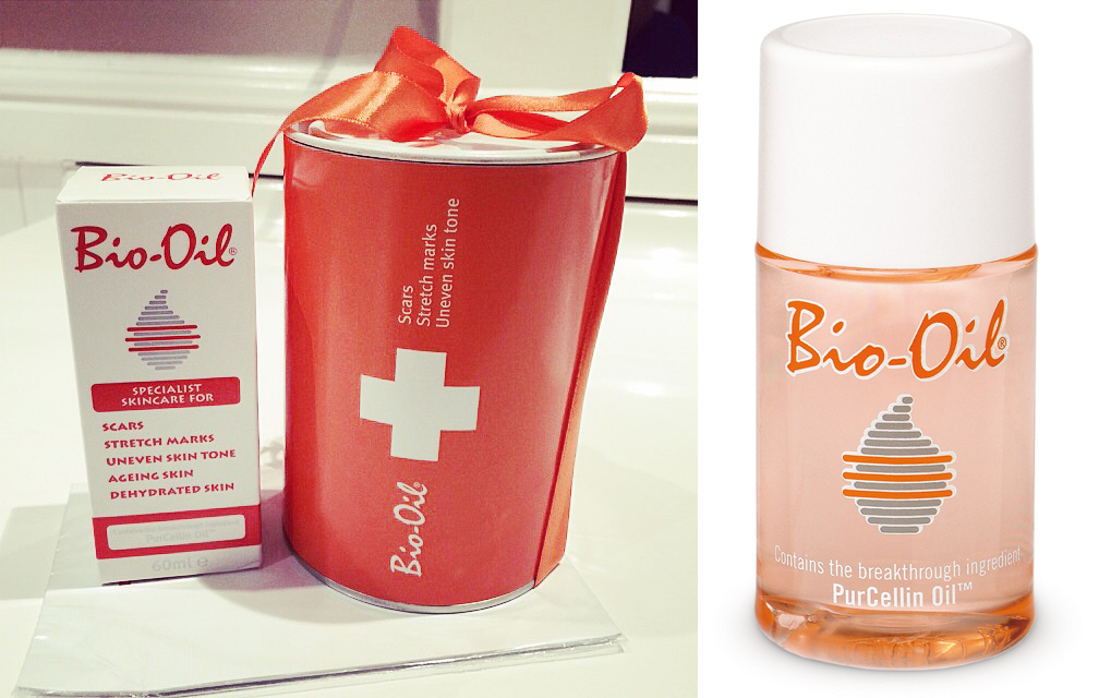 Bio-Oil box & gift box (taken with my iPhone); Bio-Oil Bottle