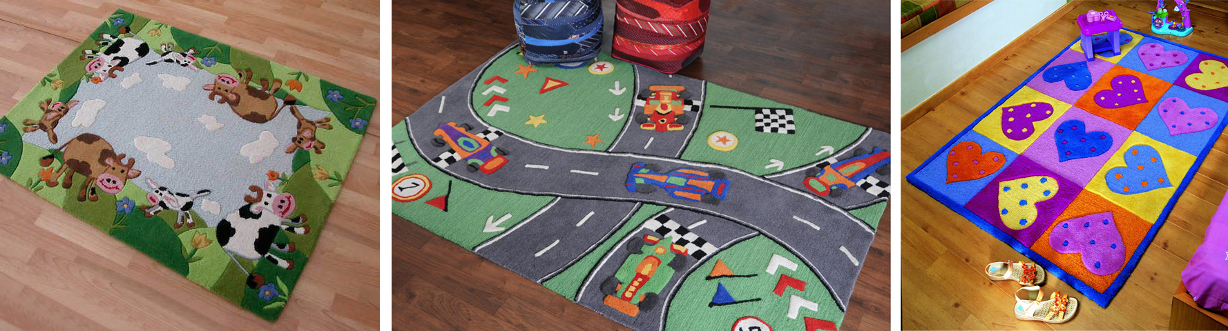 A range of the Lidchi Kidz Rugs available for boys and girls