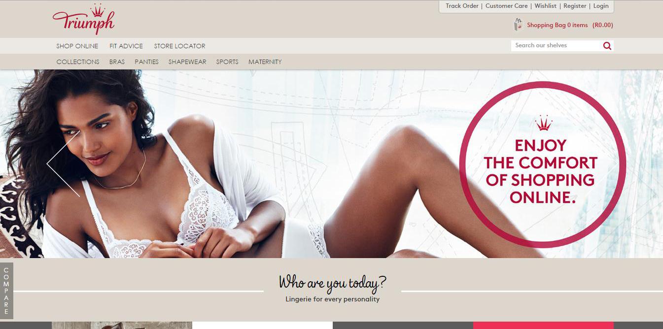Triumph's Online Store Homepage
