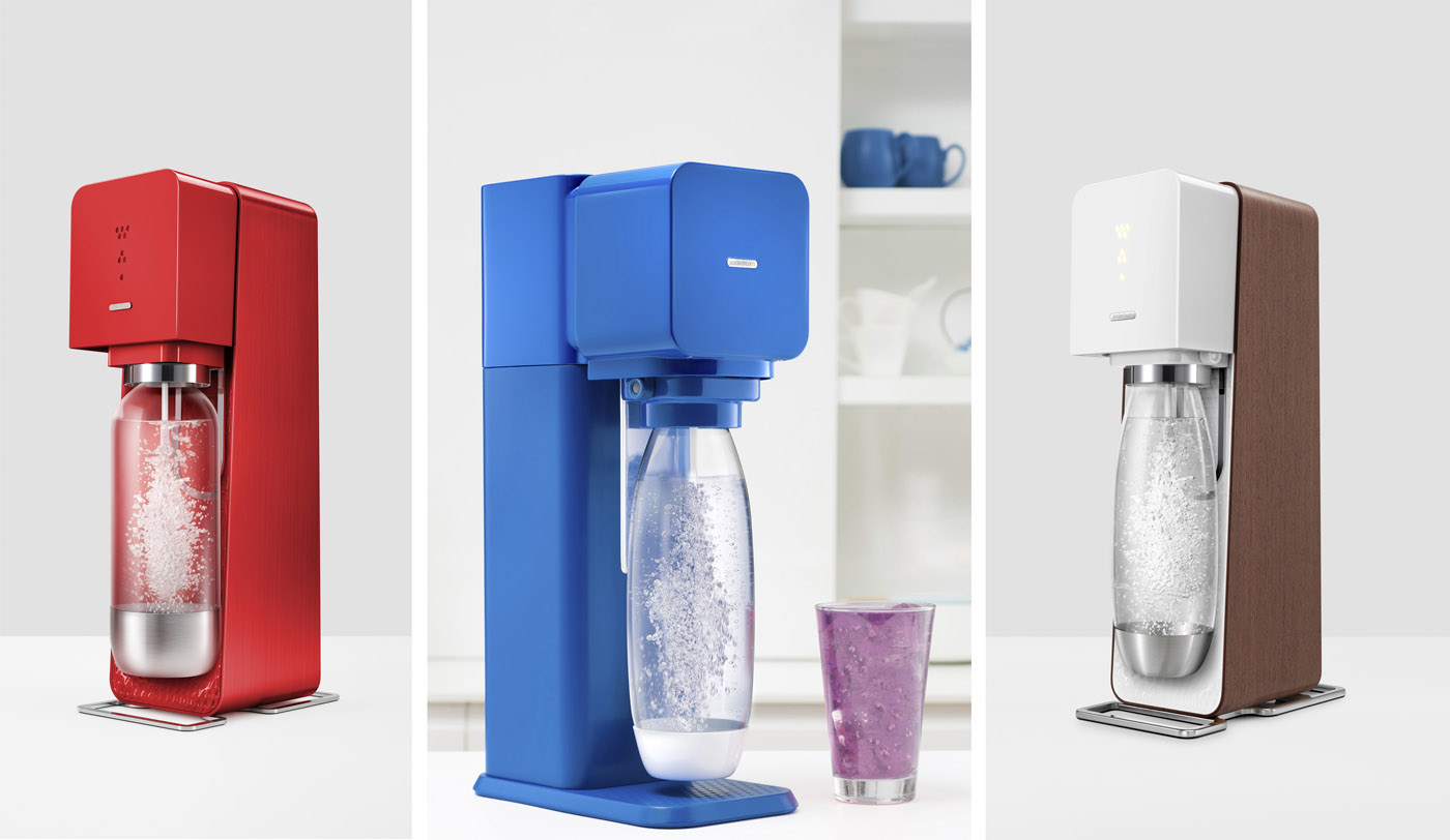 A selection of SodaStream machines - image courtesy of SodaStream