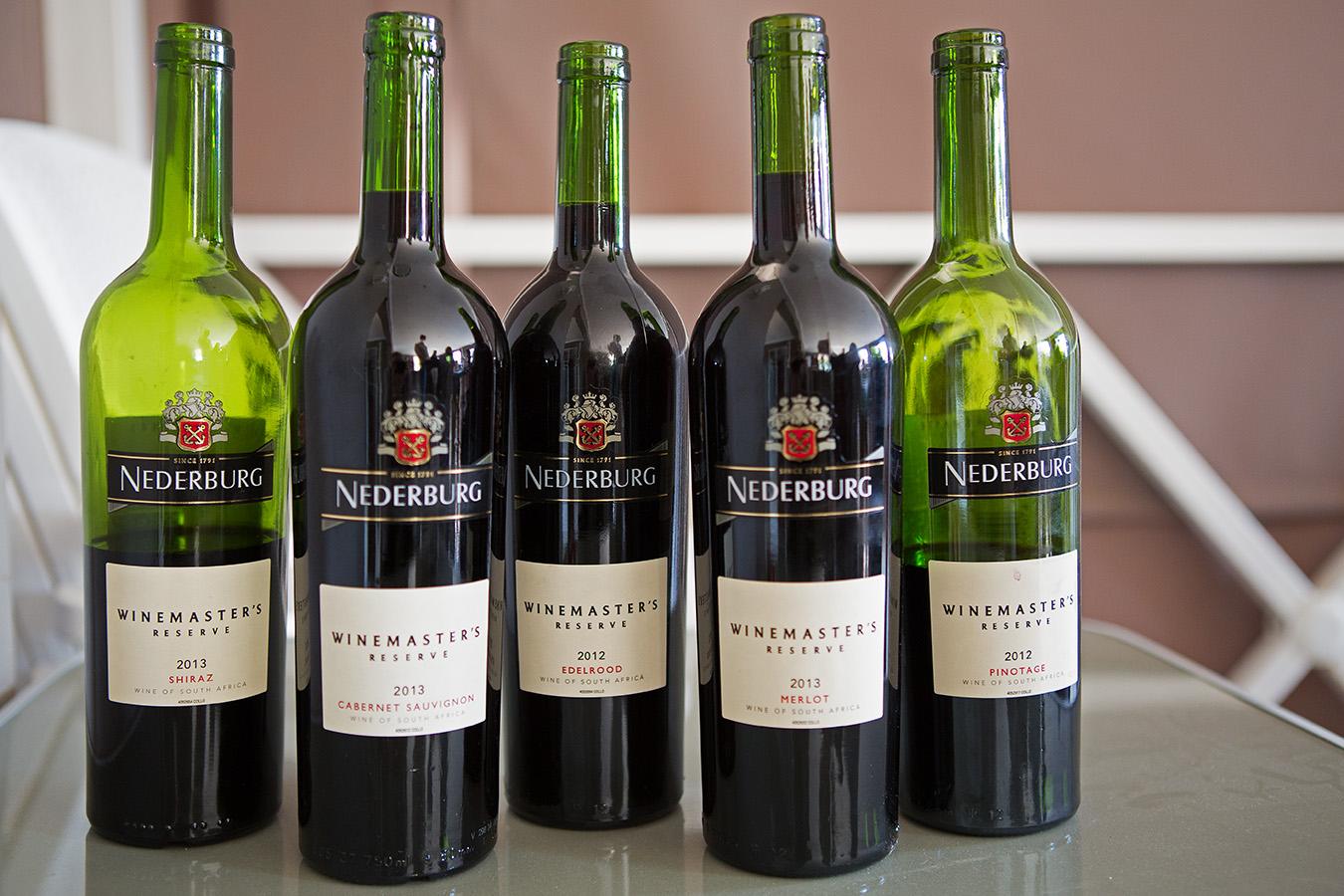 Nederburg Winemaster's Reserve Red Wines - Shiraz 2013, Cab Sauv 2013, Elderood 2012, Merlot 2013 & Pinotage 2012