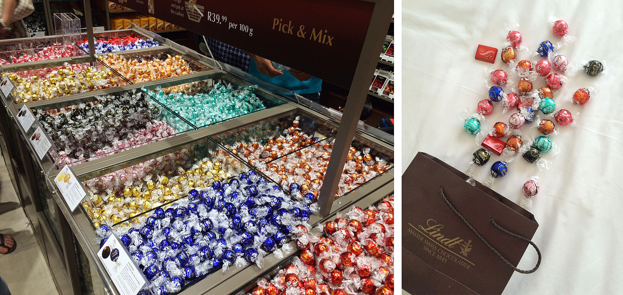 LINDT LINDOR Pick n Mix (images taken in my iPhone)