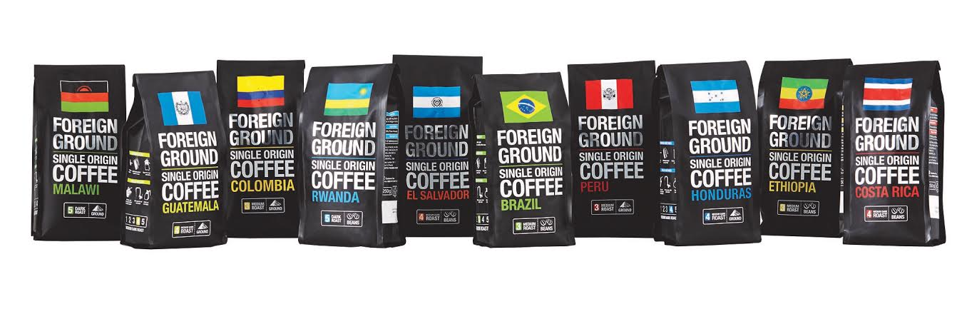 Checkers Foreign Ground Coffee Range (image courtesy of Checkers)