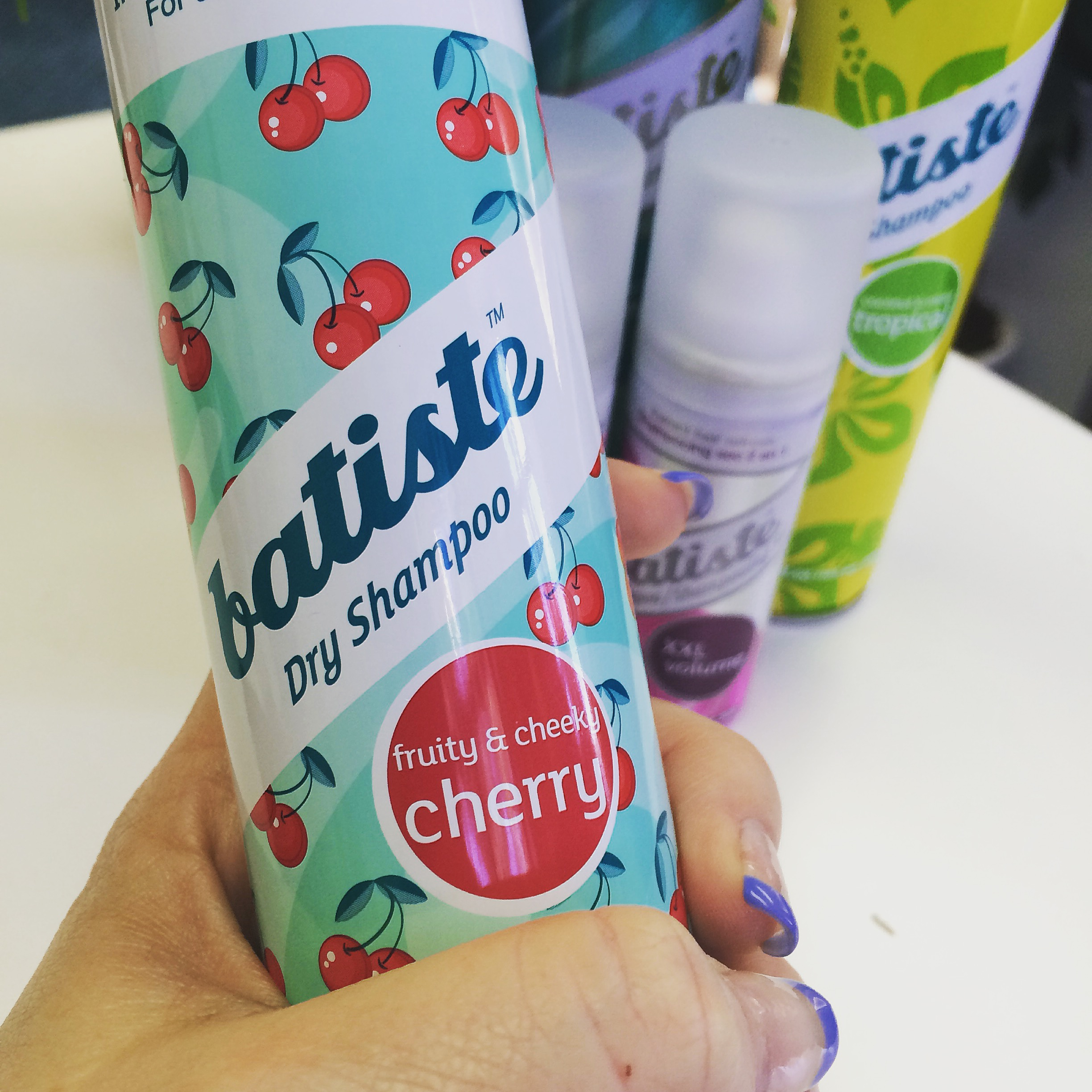My favourite one: Batiste™ Dry Shampoo Cherry (taken with my iphone)