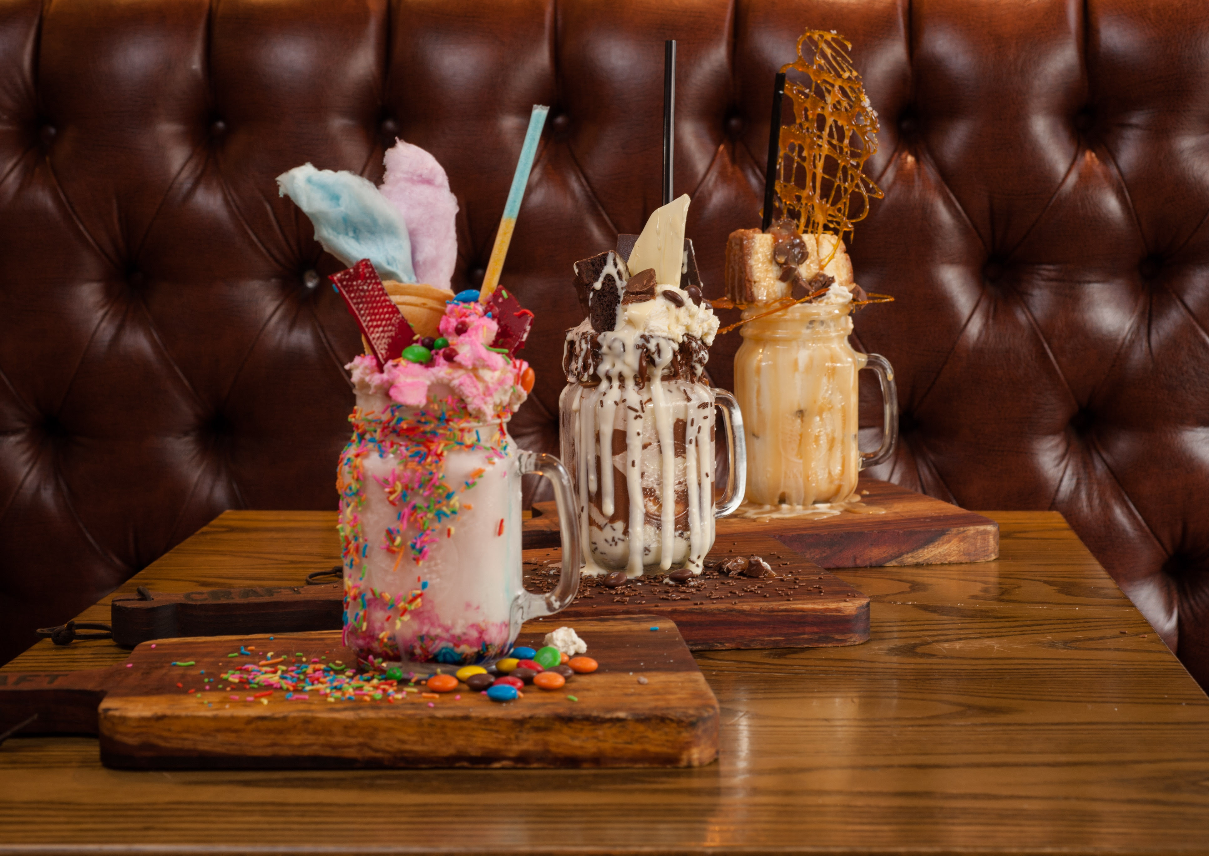 CRAFT Freakshakes - The Candy Carnival, Chocolate Overload & Salted Caramel Delight 9image courtesy of Craft)