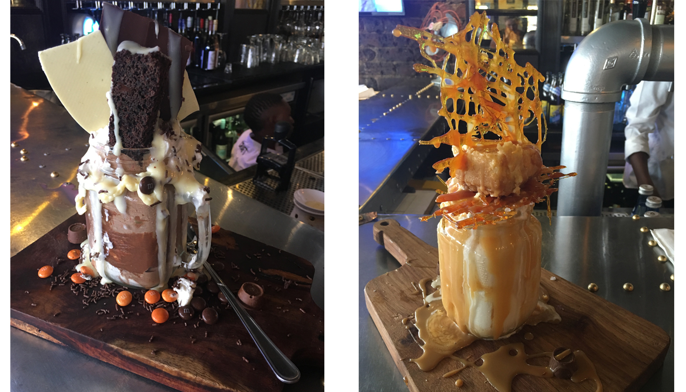 CRAFT OhShakes - Chocolate Overload & Salted Caramel Delight (image taken with my iPhone)