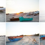 The boats and fishermen of Paternoster at sunrise