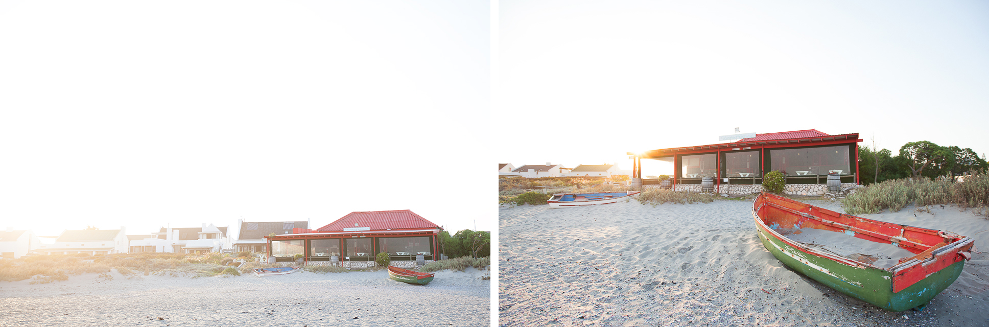 The Voorstrand Restaurant, Paternoster. The photo was taken at sunrise.
