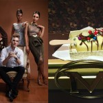 Gert-Johan Coetzee & 3 of his gorgeous dresses; My Magnum - white choice with silver balls, candy choice biscuit bites & mint cupcake crunch & mint shortcake