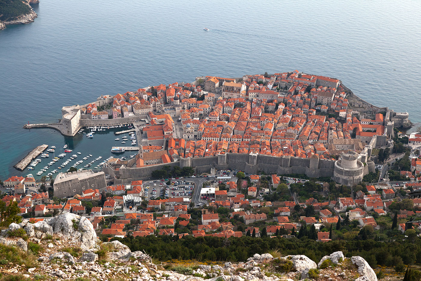 View of Dubrovnik from Mount Srd