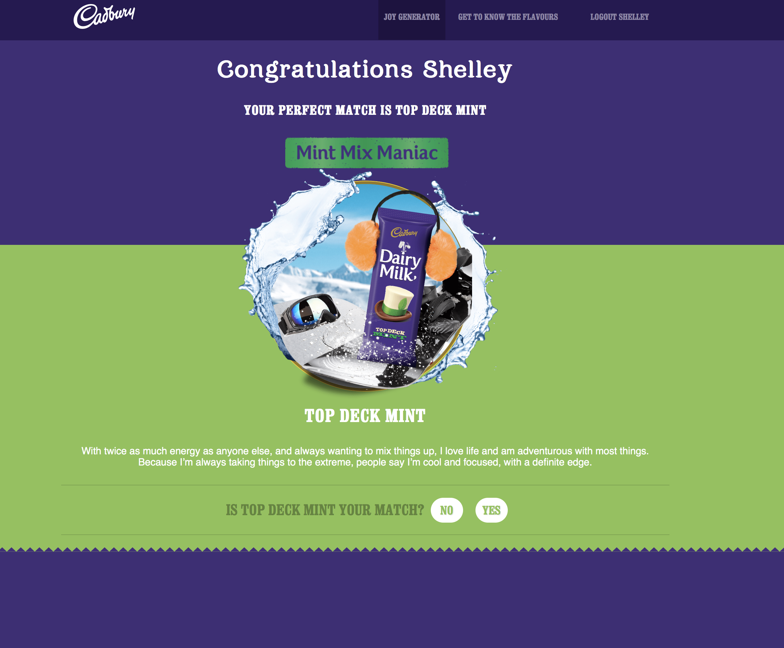Cadbury Dairy Milk launches SA's first Joy Generator #WhatsYourFlavourSA