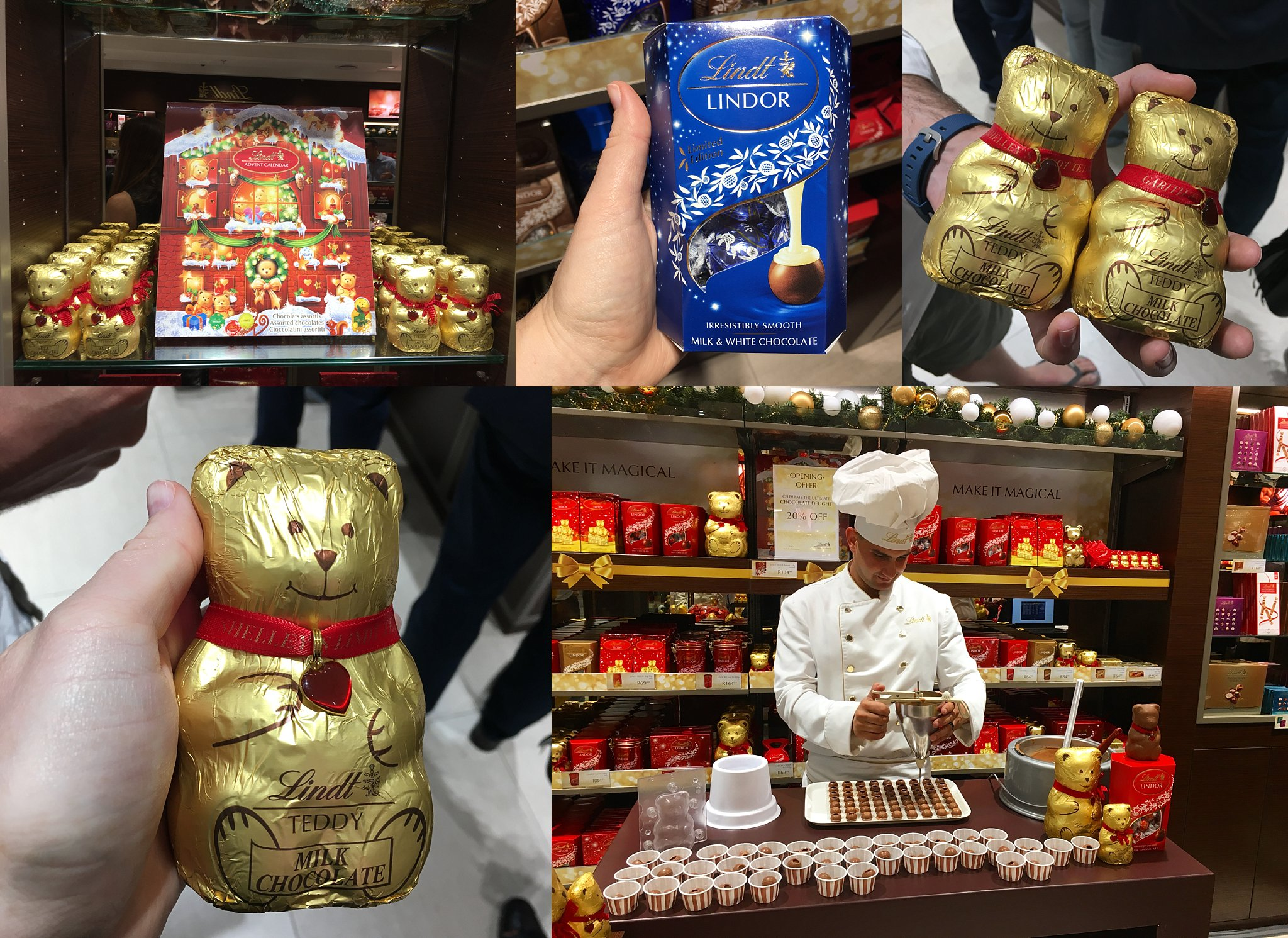 Lindt Teddy, Lindt Christmas & launch of the Menlyn Lindt Chocolate Boutique Store