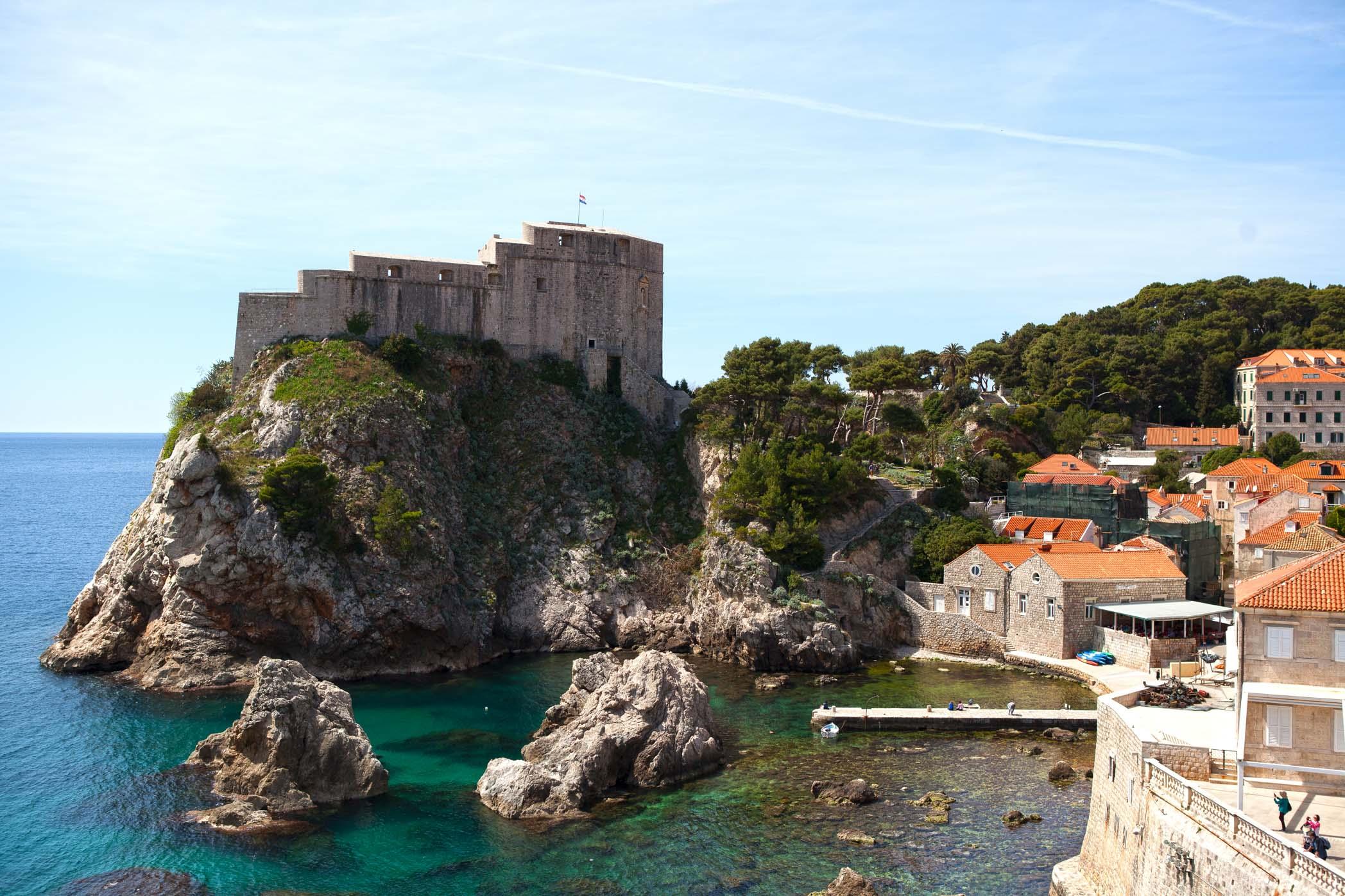 Fort Lovrijenac, taken from the wall surrounding Dubrovnik