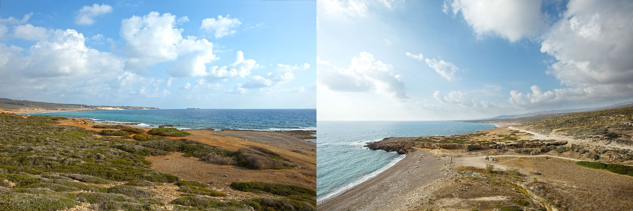 View on the way to & from Lara Bay in Cyprus