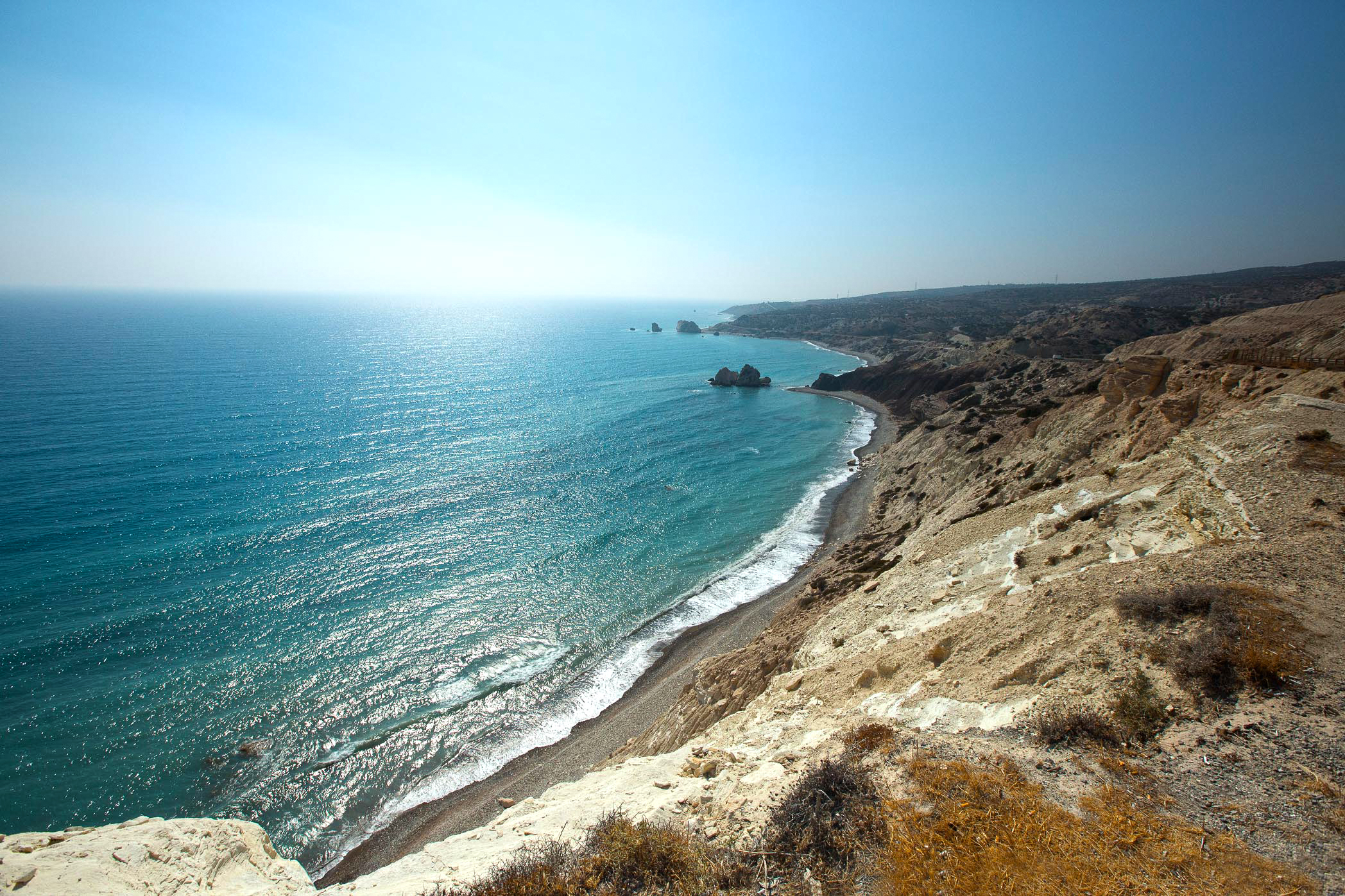 A view of Aphrodite's rock taken on our road trip back to Larnaca
