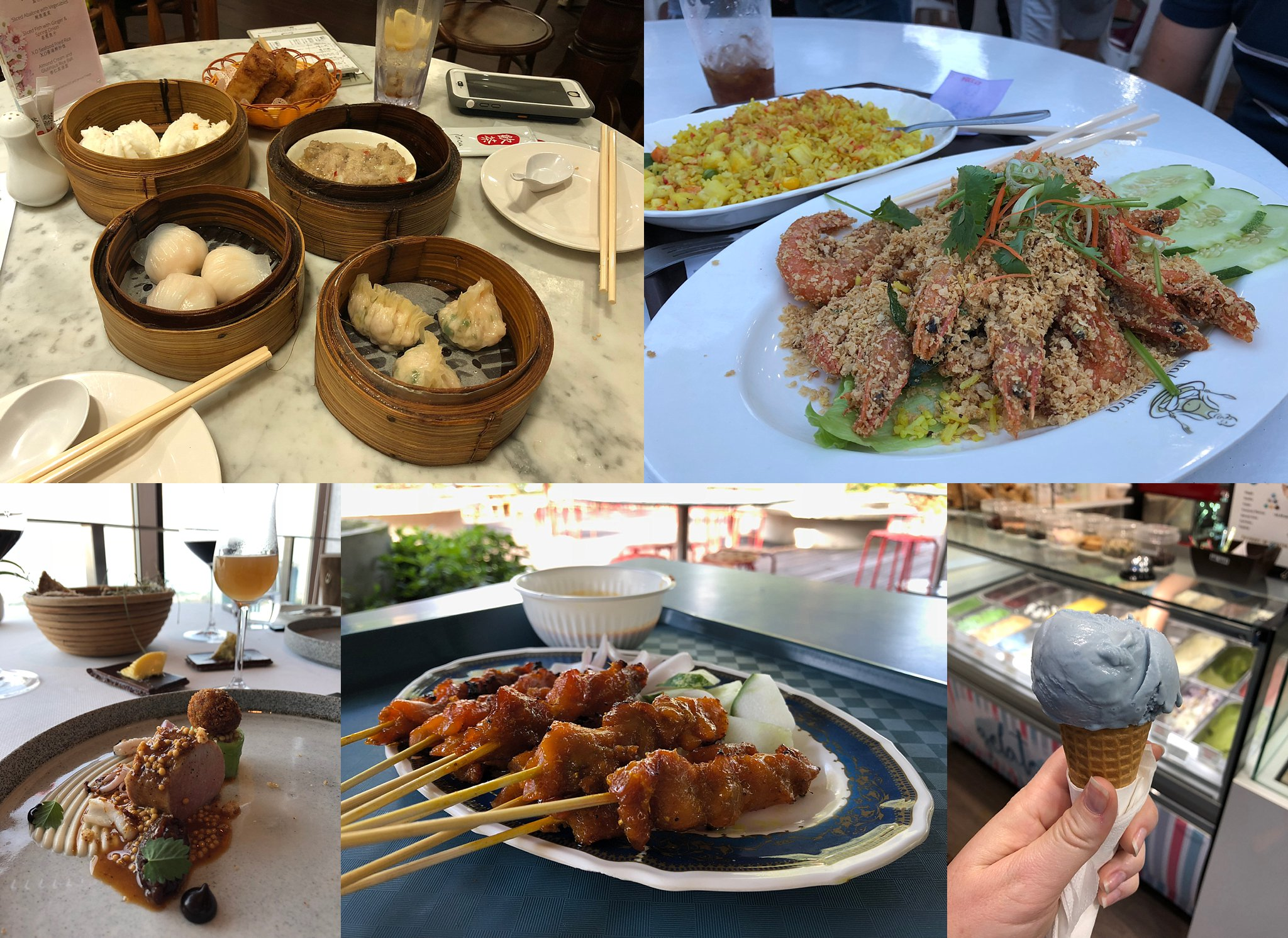 The different food we ate while in Singapore (taken with iPhone 8)