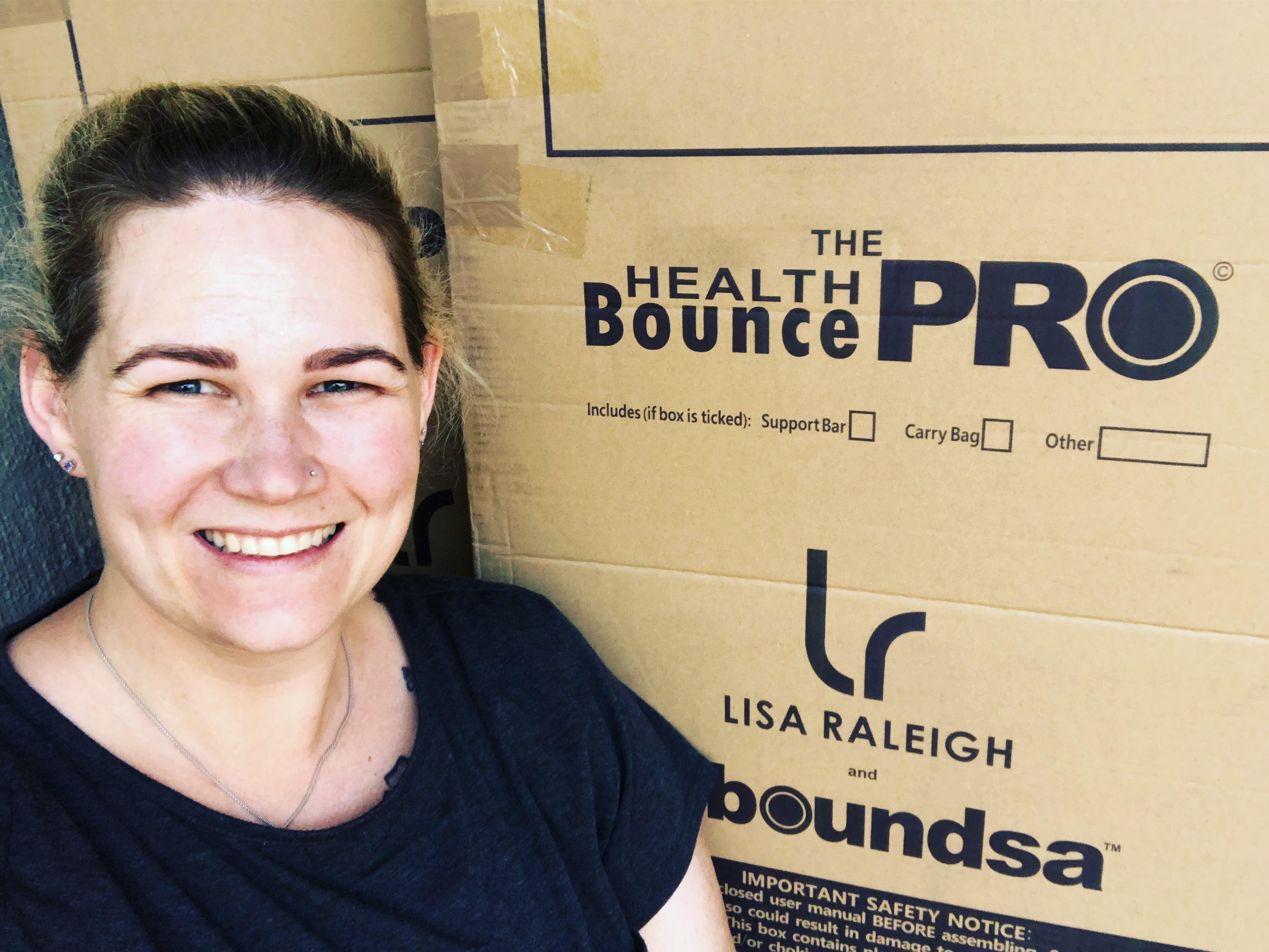The arrival of my Lisa Raleigh Rebounder